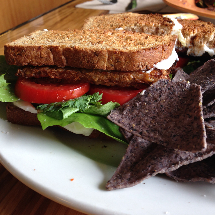 Vegan user review of Papa G's Vegan Organic Deli in Portland. Tempeh lettuce tomato- one of the best sandwiches I have ever had. Amazing! #tempeh #deli #sandwich #lunch