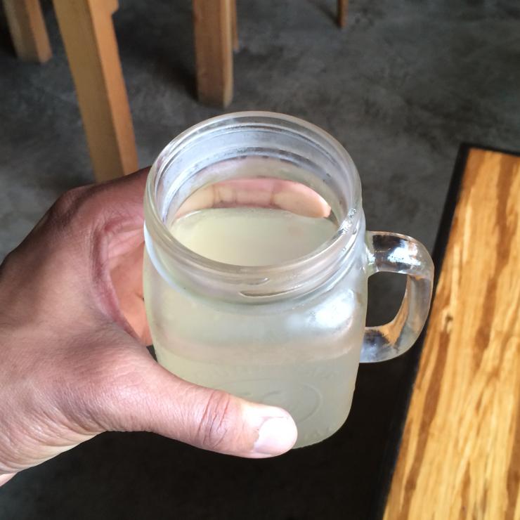 Vegan user review of Papa G's Vegan Organic Deli in Portland. Ginger kefir drink 🍹 #food #lunch