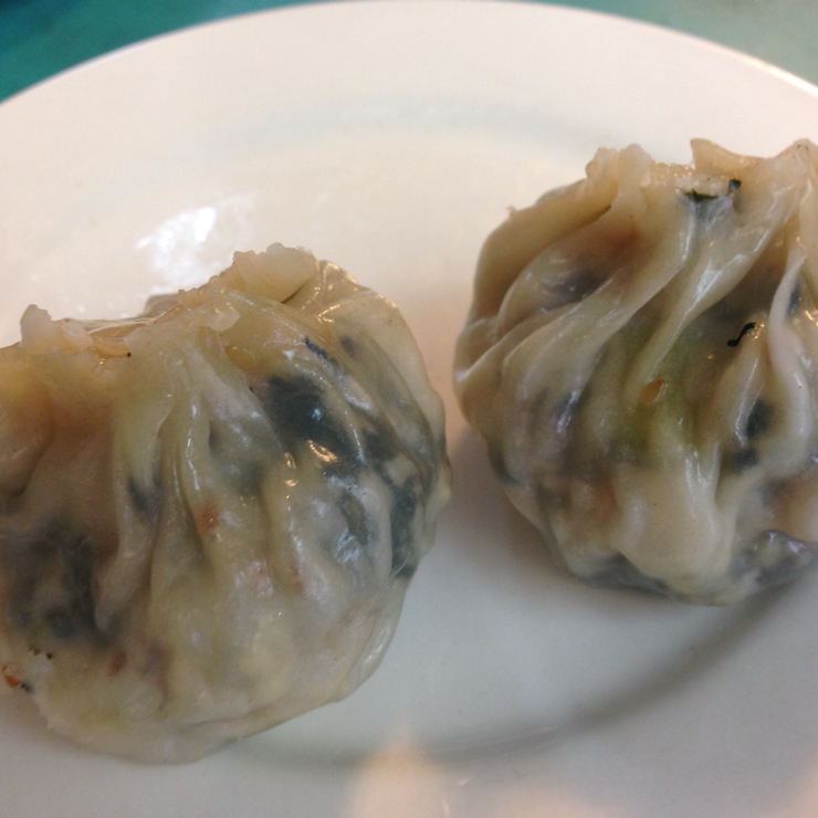 Vegan user review of Lucky Creation Vegetarian Restaurant in San Francisco. Yummy dumplings filled with Swiss chard and water chestnuts. 3 per order.