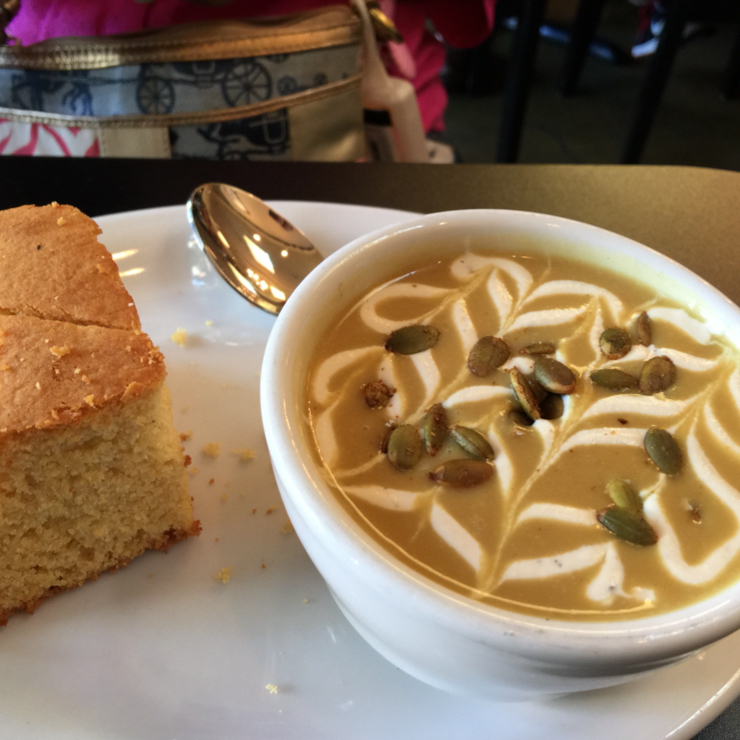 Vegan user review of Blossoming Lotus in Portland. Bean soup 🍜 with corn bread  🍞. Totally delish! #food #dinner #restaurant