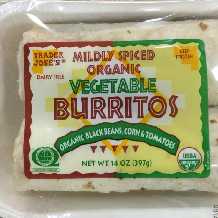 Vegan user review of Trader Joe's in San Carlos. Vegan frozen burritos #grocery