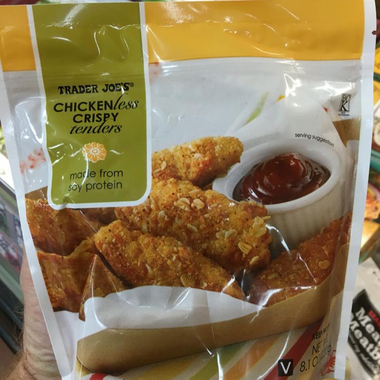 Vegan user review of Trader Joe's in San Carlos. Chicken-less crispy tenders #grocery