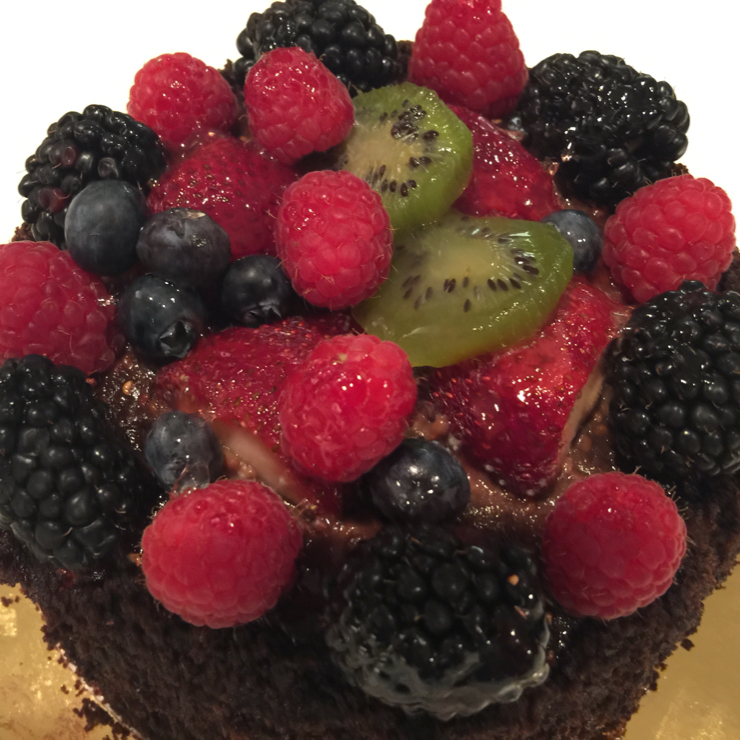 Vegan user review of Whole Foods Market in Cupertino. Vegan chocolate 🍫 cake with berries. A little sweet but certainly delish. #food #dessert #grocery #store