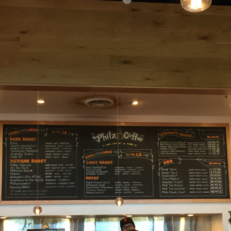 Vegan user review of Philz Coffee in Sunnyvale.