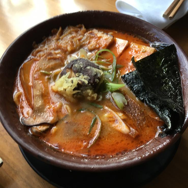 Vegan user review of Shizen Vegan Sushi Bar & Izakaya in San Francisco. Spicy Miso Ramen