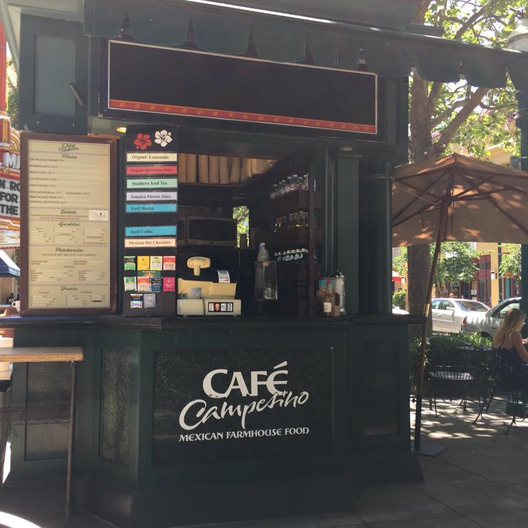 Vegan user review of Cafe Campesino in Santa Cruz.