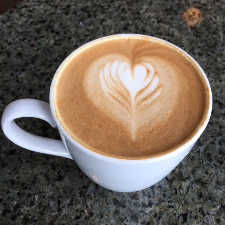 Vegan user review of Peet's Coffee in San Jose. Soy latte. Not as strong today