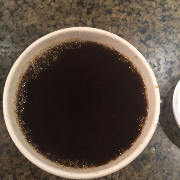 Vegan user review of Peet's Coffee in Cupertino. Freshly brewed Major Dickason's blend coffee ☕️ #food #restaurant