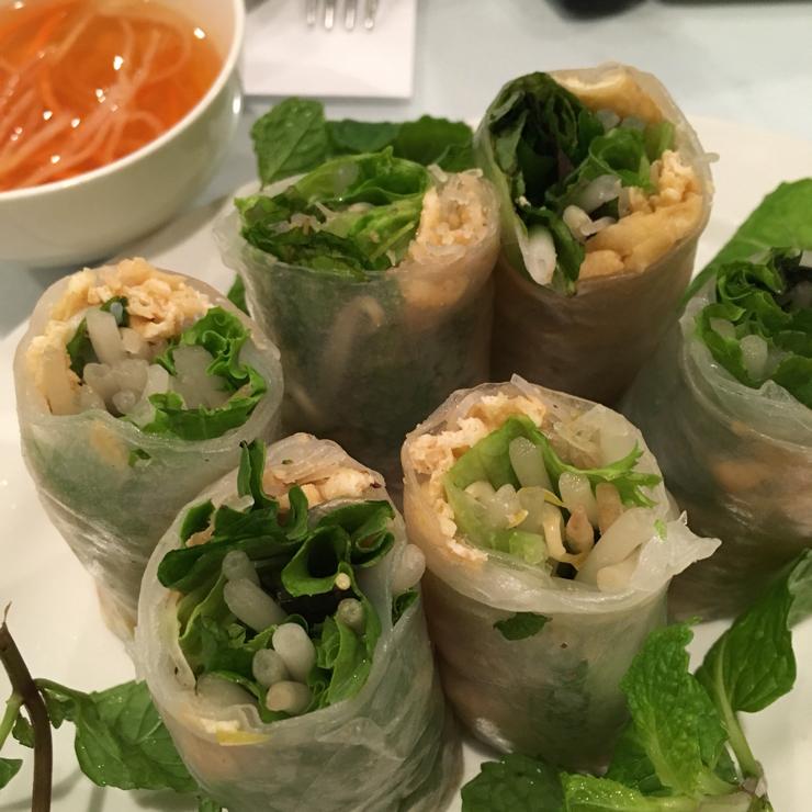 Vegan user review of DiLac Vegetarian Cuisine in San Jose. Summer Roll