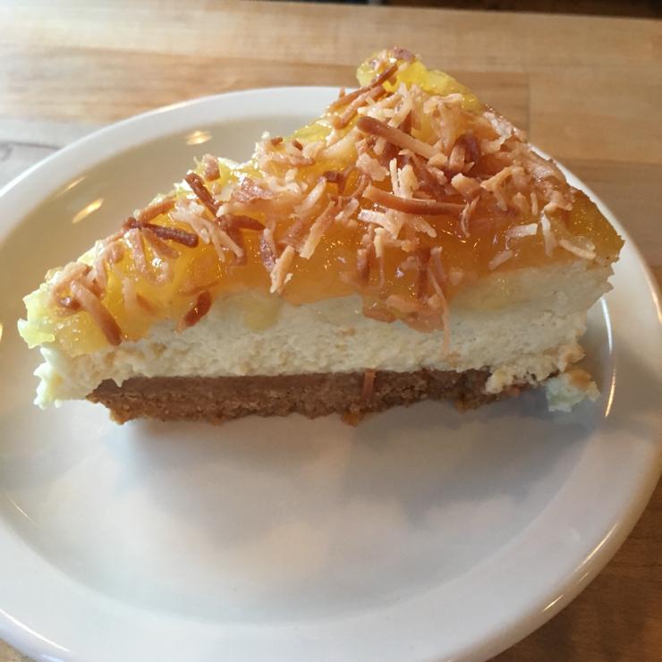 Vegan user review of The Butcher's Son in Berkeley. Pineapple Cheezecake