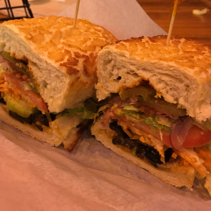 Vegan user review of The Sandwich Spot in Redwood City. #25 Mean Lean Veggie Machine without cheese or mayo