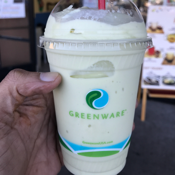 Vegan user review of Happiness Cafe in San Jose. Durian avocado shake. Totally amazing 😉. It's all organic too