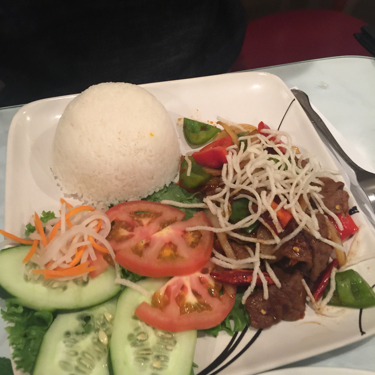 Vegan user review of DiLac Vegetarian Cuisine in San Jose. Vegan combo plate