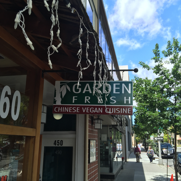 Vegan user review of Garden Fresh Chinese Vegan Cuisine in Palo Alto. Nice 👍 little 100% vegan place.