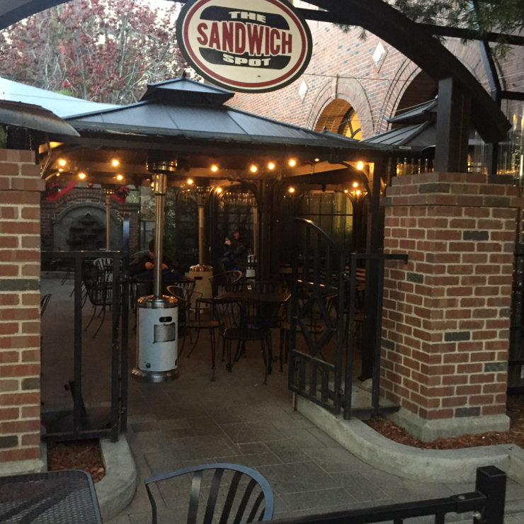 Vegan user review of The Sandwich Spot in Redwood City. Outdoor seating