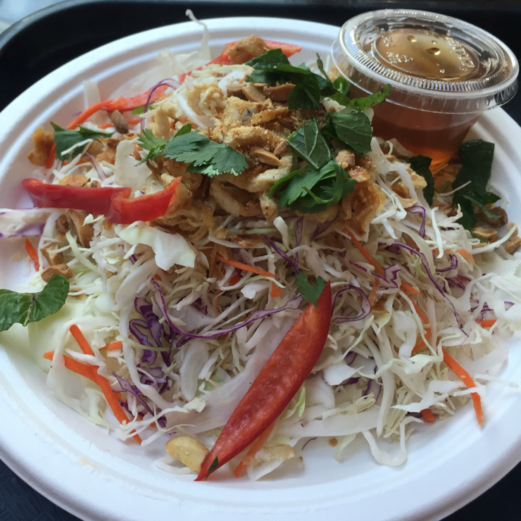 Vegan user review of Loving Hut in San Jose. Rainbow salad.