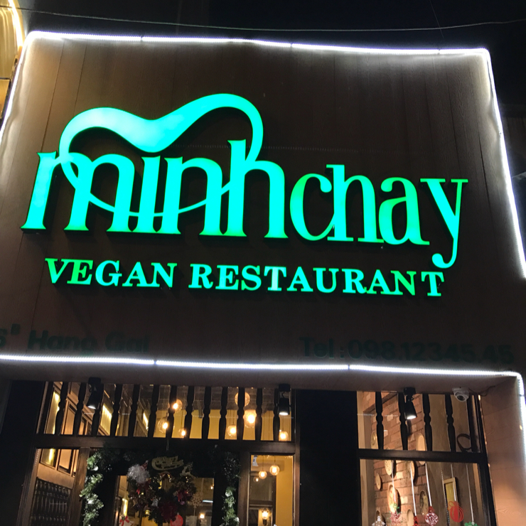 Vegan user review of Minh Chay Vegan Restaurant in Han Noi. Nice little vegan place in Hanoi. Started earlier this year. They now have 2 branches.