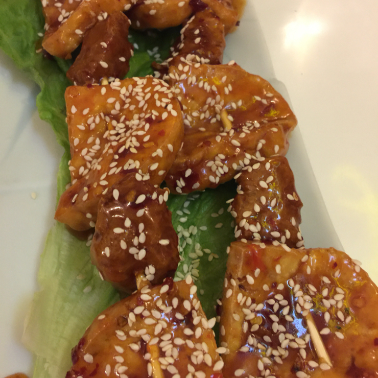 Vegan user review of Loving Hut in San Francisco. BBQ Sesame tofu sticks appetizer