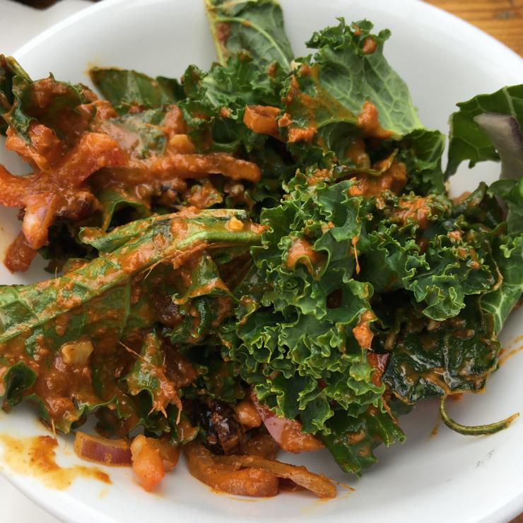 Vegan user review of Good Karma Artisan Ales & Cafe in San Jose. Kale salad