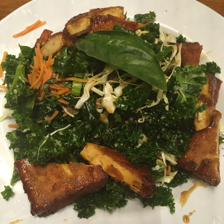 Vegan user review of Veggie Grill in San Jose. Banh Mi salad, very flavorful, might be too much sauce.