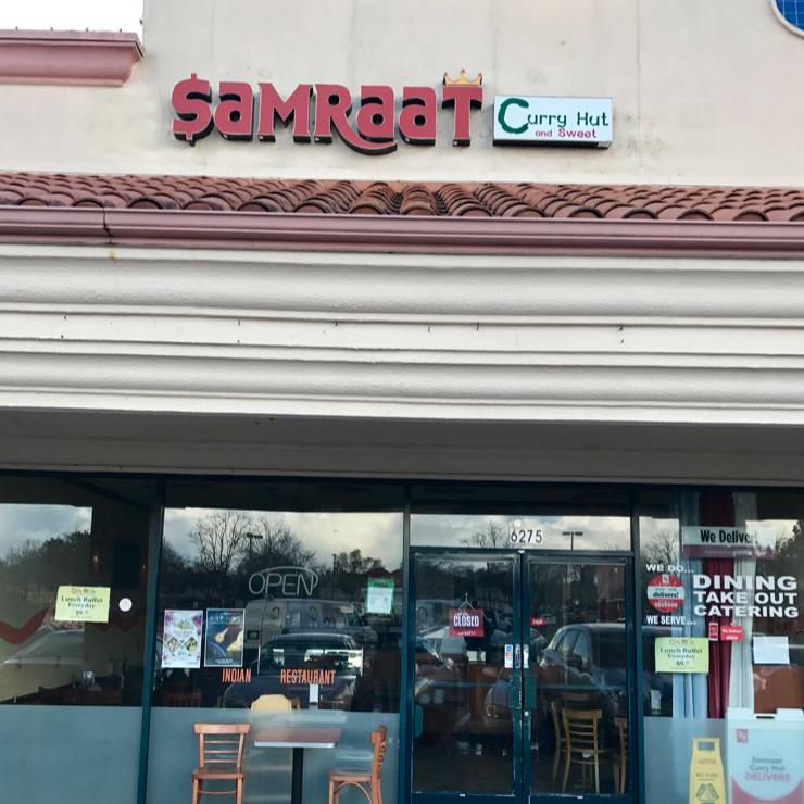 Vegan user review of Samraat Curry Hut in Newark.