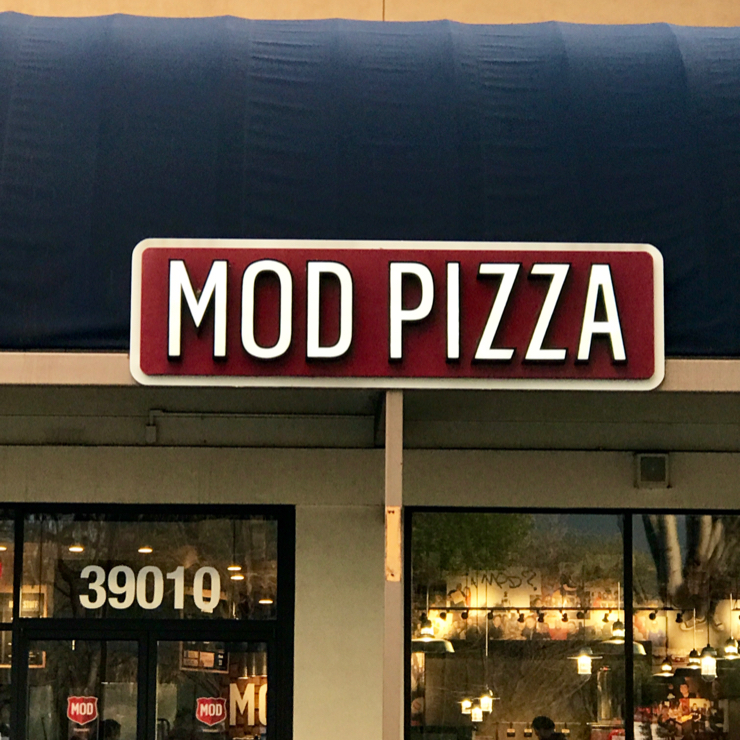 Vegan user review of MOD Pizza in Fremont.