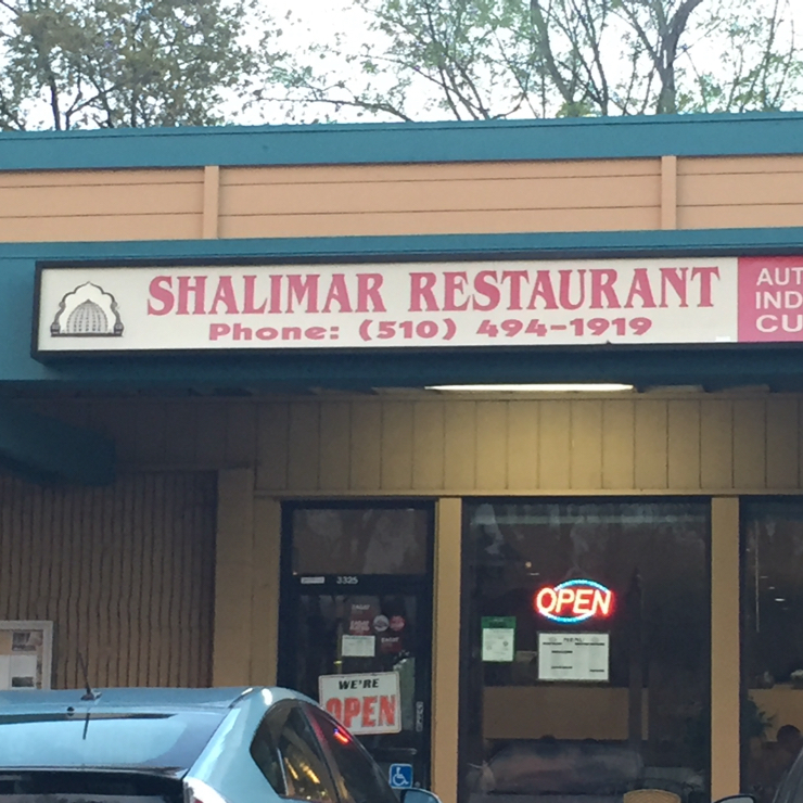 Vegan user review of Shalimar Restaurant in Fremont.