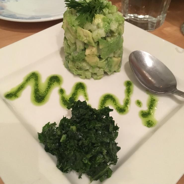 Vegan user review of Vegetarian House in San Jose. Avocado Tar Tar Raw