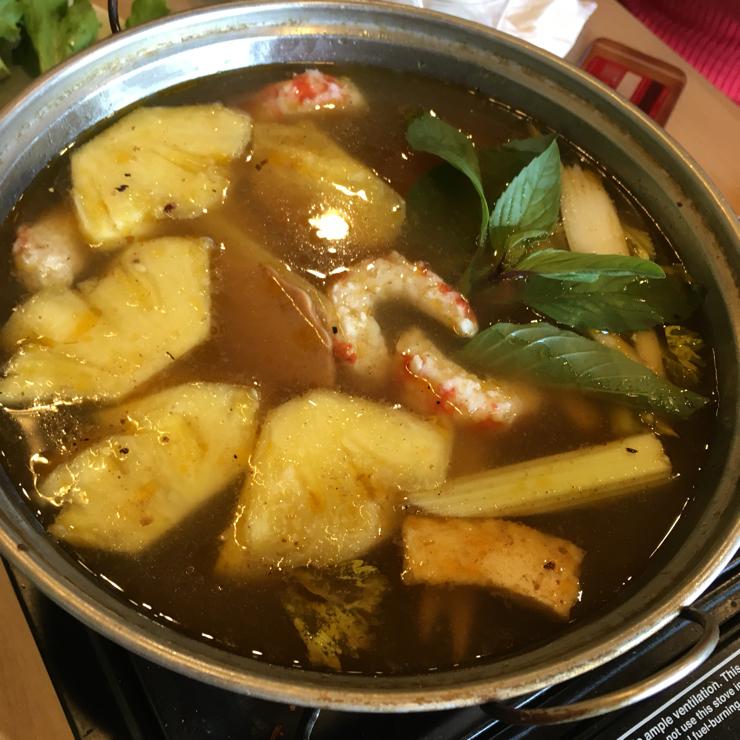 Vegan user review of Mint & Basil in Milpitas. Thai Hot Pot