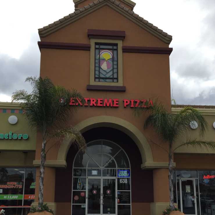 Vegan user review of Extreme Pizza in San Jose.