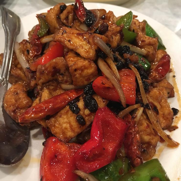 Vegan user review of DiLac Vegetarian Cuisine in San Jose. Tofu in Black Bean Sauce. Legitly Tasty!