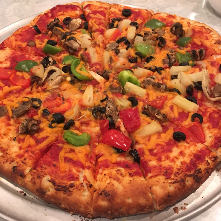Vegan user review of DiLac Vegetarian Cuisine in San Jose. Pizza using Follow Your Heart Cheeze! Crust was amazing!