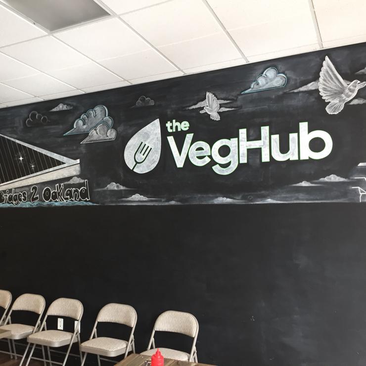 Vegan user review of The Veg Hub in Oakland.