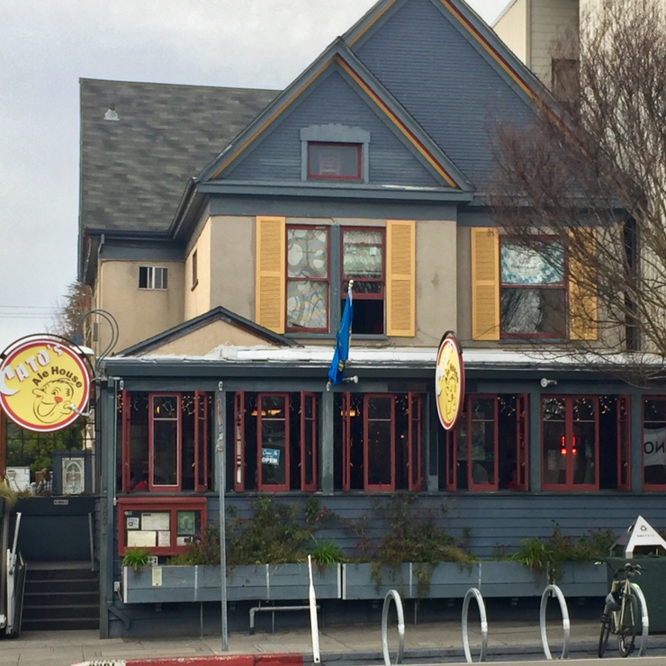 Vegan user review of Cato's Ale House in Oakland.