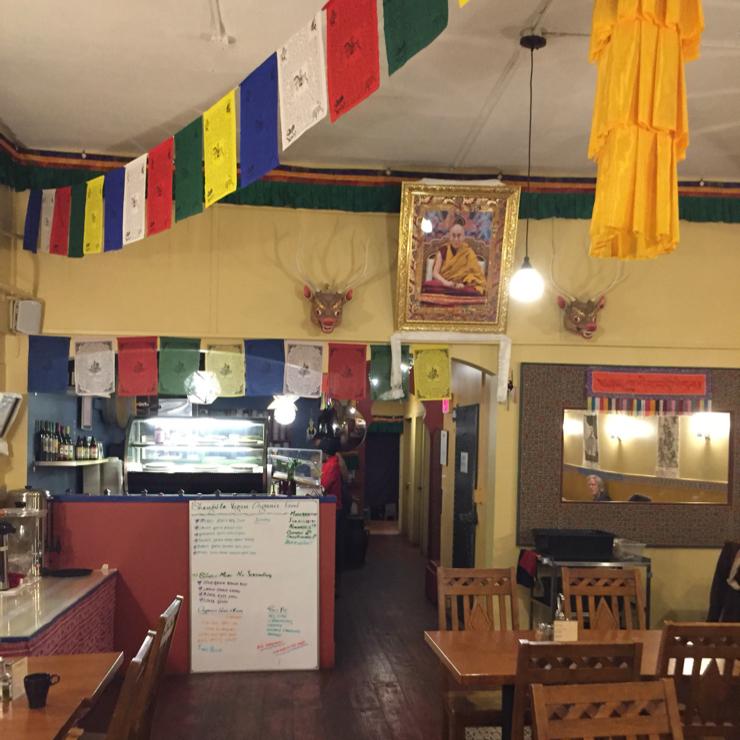 Vegan user review of Shangri-La Vegan on Telegraph in Oakland.