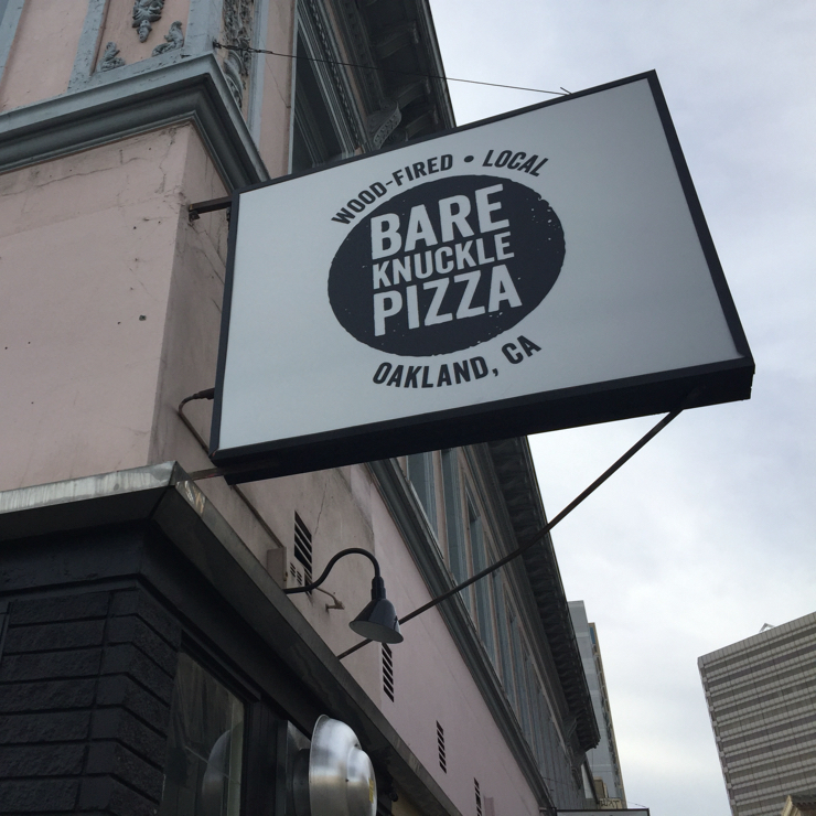 Vegan user review of Bare Knuckle Pizza in Oakland.