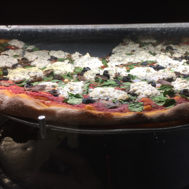 Vegan user review of Lanesplitter Pizza & Pub in Oakland. Vegan herbivore pizza by the slice