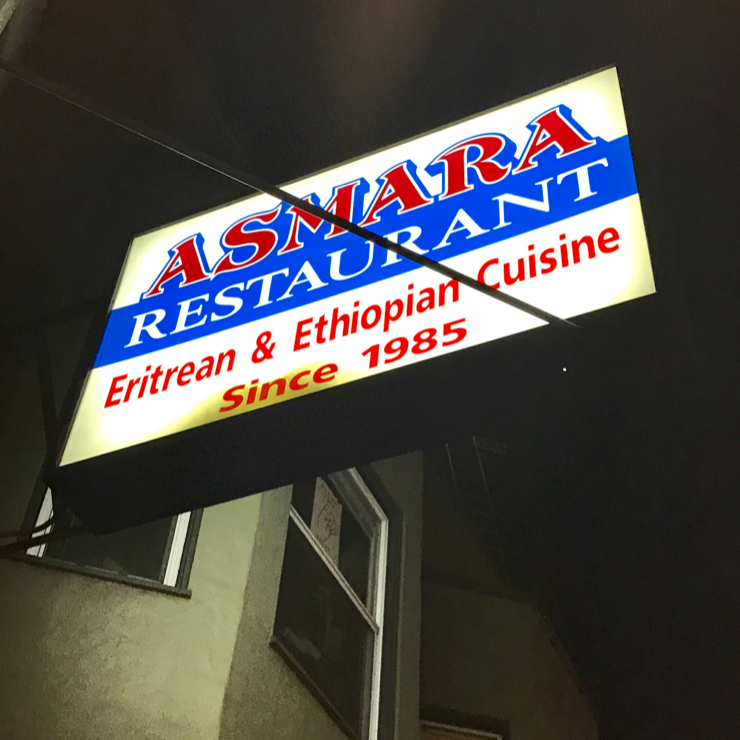 Vegan user review of Asmara Restaurant in Oakland.