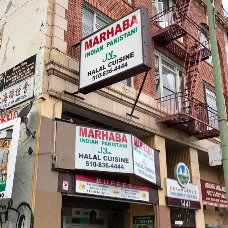 Vegan user review of Marhaba Indian & Pakistani Halal Cuisine in Oakland.