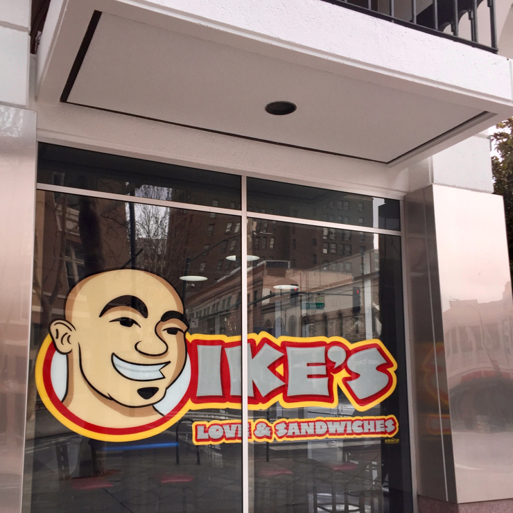 Vegan user review of Ike's Love & Sandwiches in San Jose.