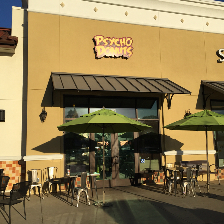 Vegan user review of Psycho Donuts in Santa Clara.