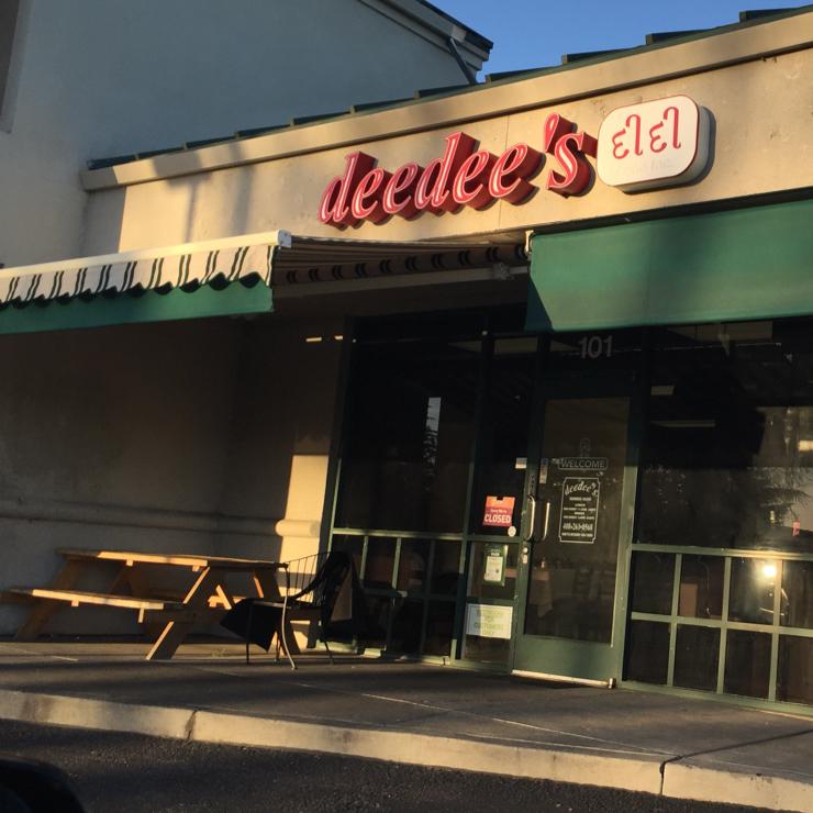 Vegan user review of Deedee's in Santa Clara.