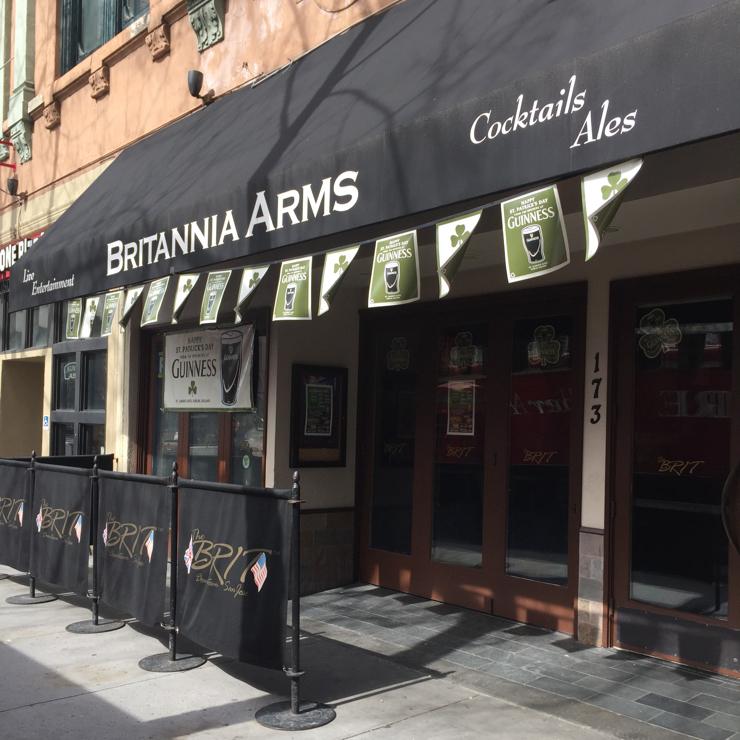 Vegan user review of Britannia Arms Downtown in San Jose.