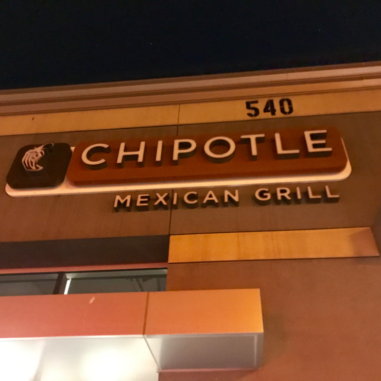 Vegan user review of Chipotle Mexican Grill in San Jose.