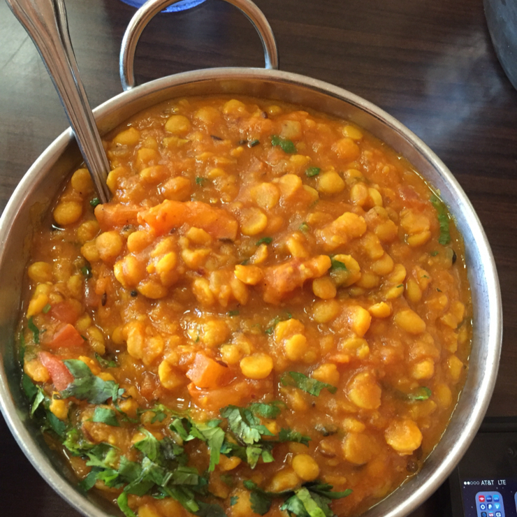 Vegan user review of Avatar Indian Grill in Salinas. Dal fry