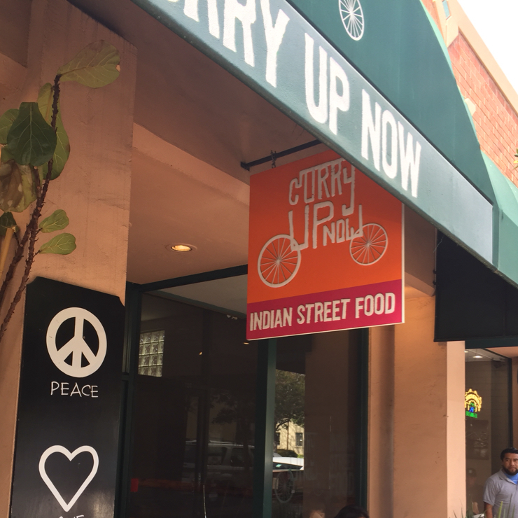 Vegan user review of Curry Up Now in Palo Alto.