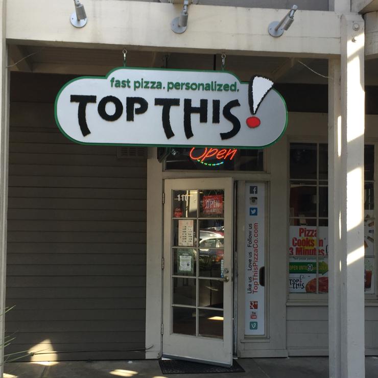 Vegan user review of Top This Pizza in Los Gatos.