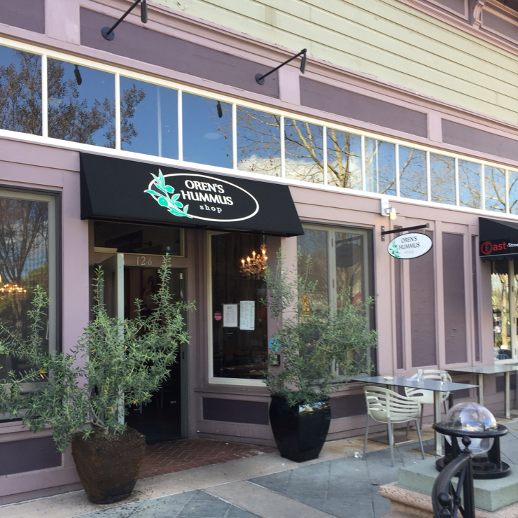 Vegan user review of Oren's Hummus Shop in Mountain View.
