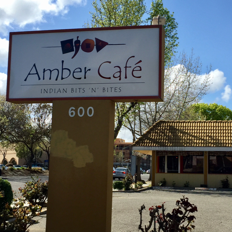 Vegan user review of Amber Cafe in Mountain View.