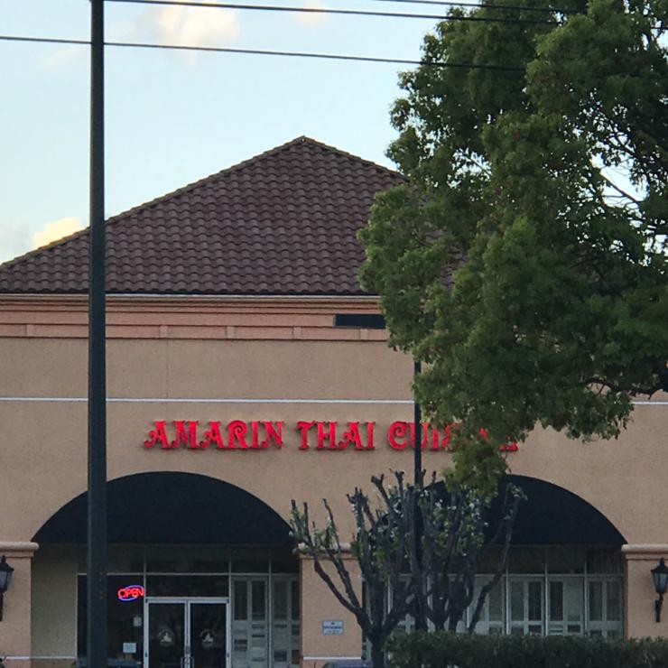 Vegan user review of Amarin Thai Cuisine in San Jose.